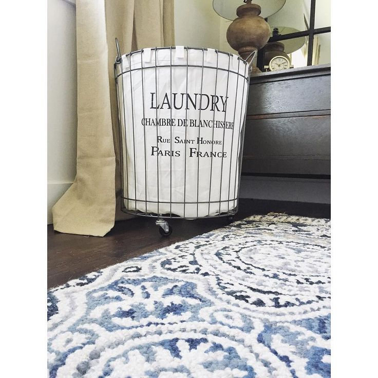 Picked up this laundry basket at @worldmarket yesterday for our master bedroom & I love it. The master bedroom makeover is moving right along! See the rest of my World Market shopping haul over on my @lizmarieblogshops Instagram! Which includes these curtains as well. #LMBhome [tap photo for sources] what do you think of the laundry basket? One word: wheels!