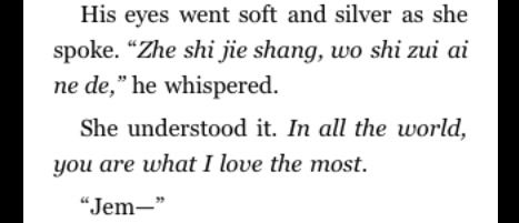 My next tattoo; Jem's love for Tess is beautiful (from the Infernal Devices series by Cassandra Clare)