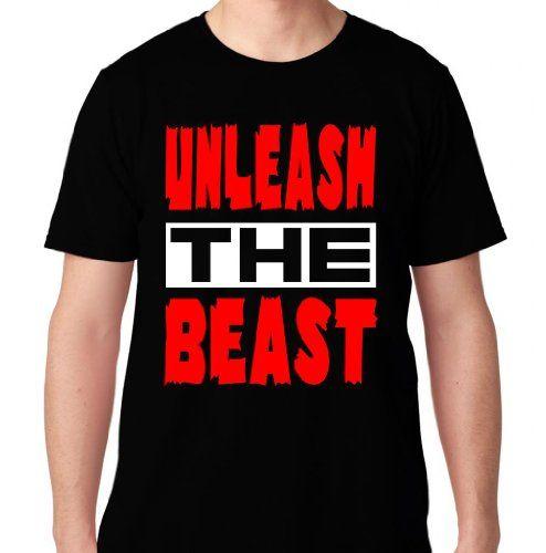 FTD Apparel Men's Unleash the Beast Motivation T Shirt-Medium Black