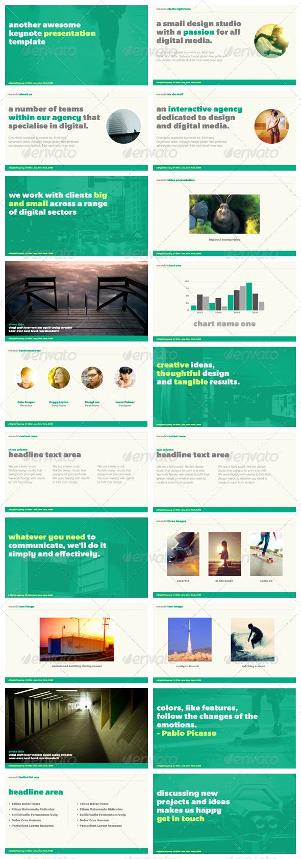 Wasabi - Powerpoint Presentation Template - GraphicRiver Item for Sale