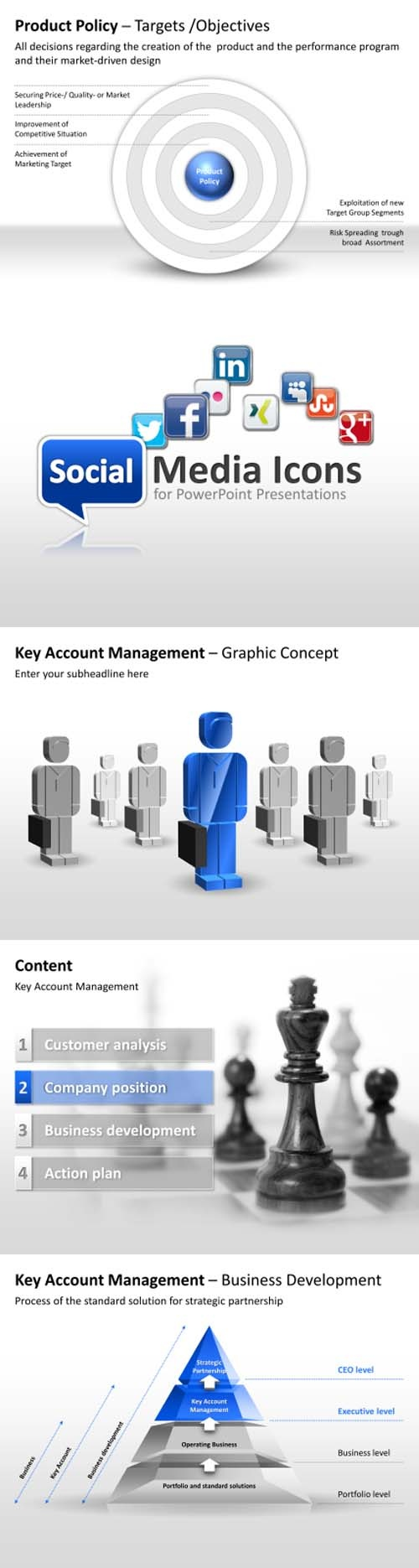 Professional #PowerPoint templates for #marketing and key account in #business presentations