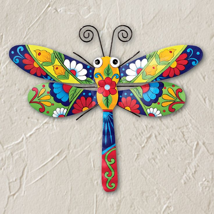 Colorful metal hanging wall decor collections etc in