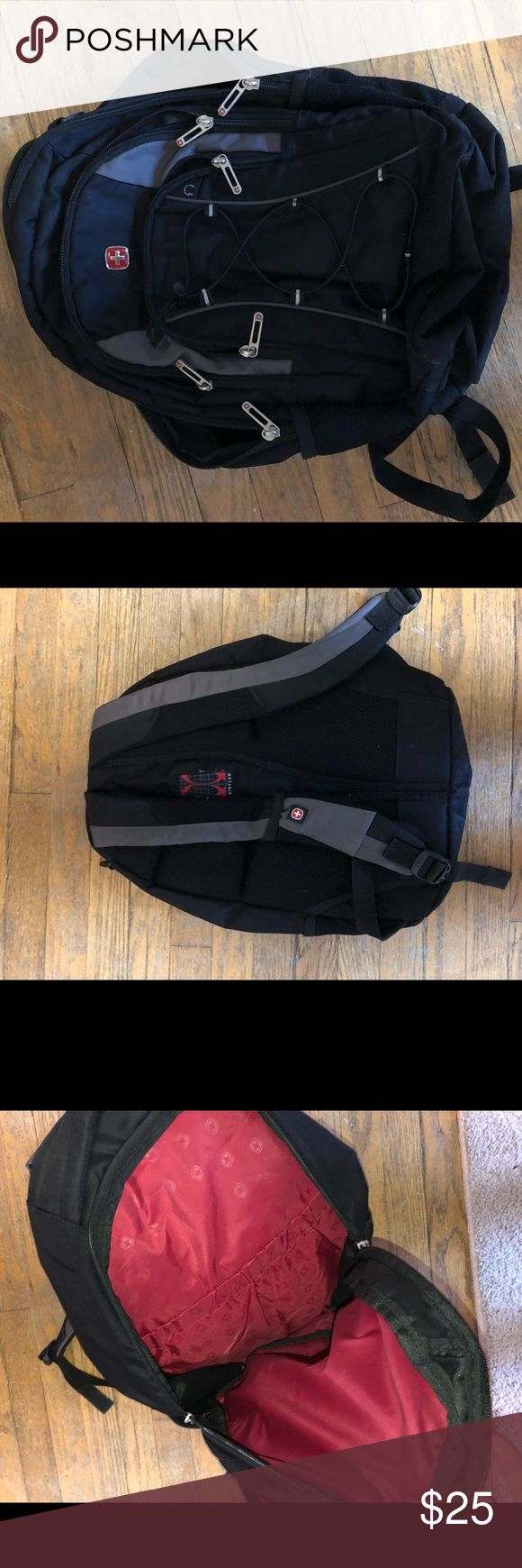 Black Swiss gear backpack Very lightly used, in great condition SwissGear Bags Backpacks