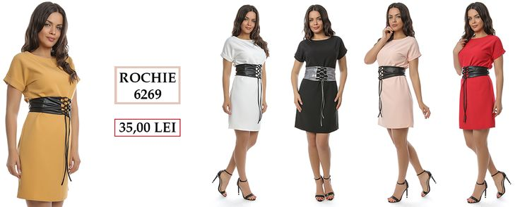Tu ai descoperit noul model de rochie cu brâu, marca Adrom Collection? Culori disponibile: alb, roșu, negru, galben muștar și pudră. Însă atenție! Stoc limitat!   👉Comandă acum de aici: http://www.adromcollection.ro/rochii/620-rochie-angro-6269.html