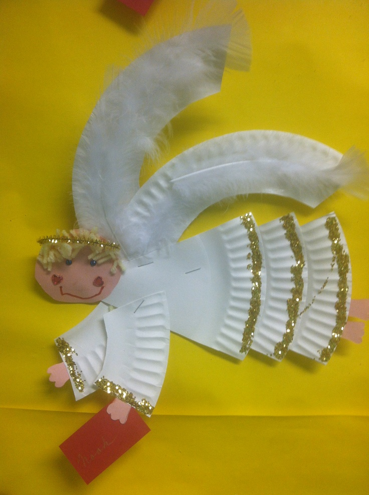 Paper plate angel craft