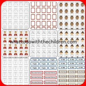 Free post office printable stamps for children...great way to motivate children to want to write!