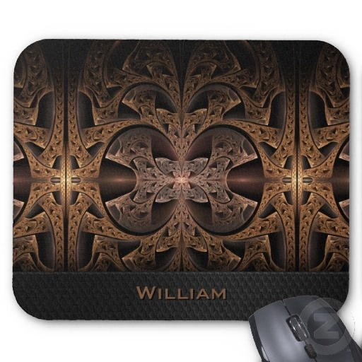 Steampunk Engine Abstract Fractal Art personalizable Mousepad $12.20 #steampunk #fractal #abstract #mousepad