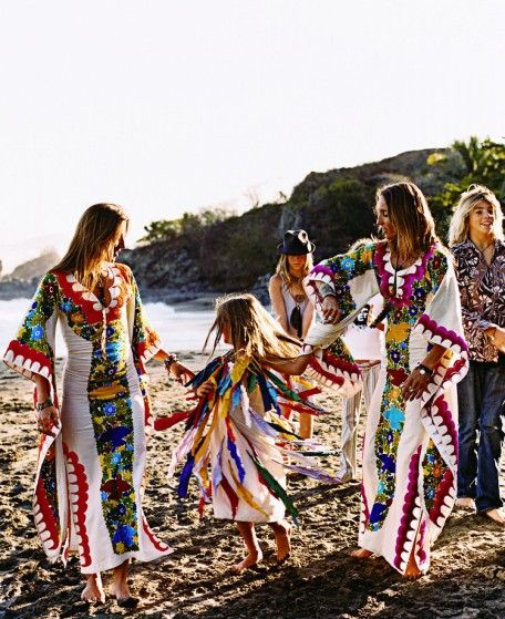 dancing: Beaches, Fashion, Gypsy Style, Hippie, Dresses, Boho, Families, Bohemian, Kaftan