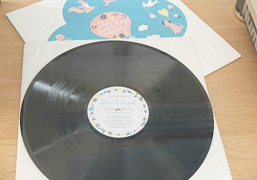 Create a memorable wedding gift for the newlyweds with this vinyl record project