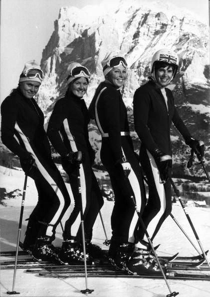 Team GB skiers Valentina Iliffe, Carol Blackwood, Gina Hathorne and Divina Galica of the women's Olympic team in Sapporo, Japan, Winter Olympic Games.