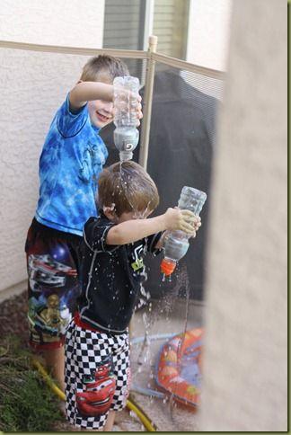 Water Bottle Target Practice  Water Play Wednesday