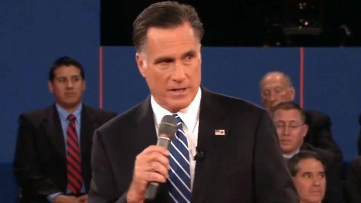 Lying Romney Caught By Debate Moderator