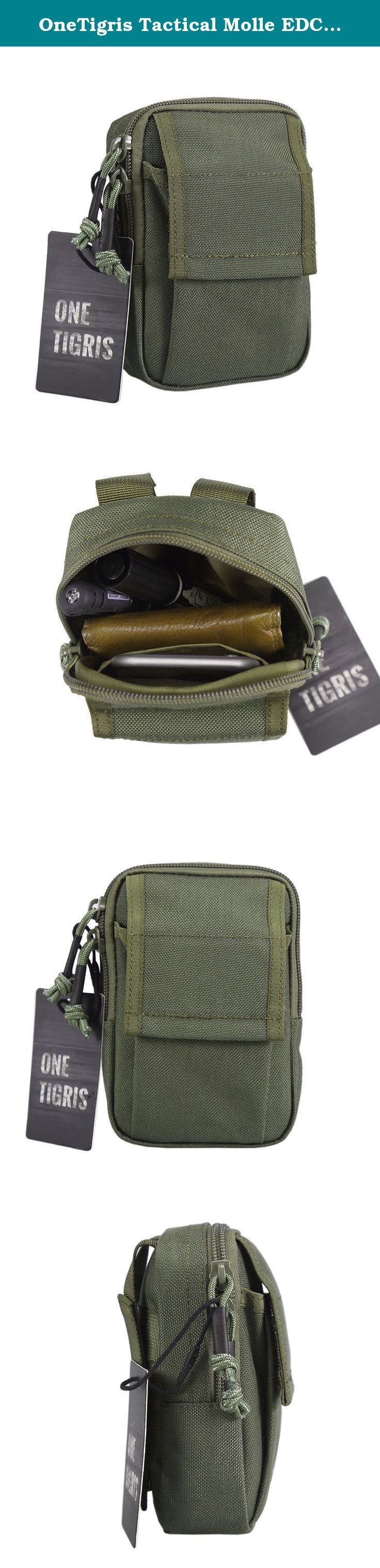 """OneTigris Tactical Molle EDC Pouch Utility Gadget Belt Waist Bag for 5.5"""" iPhone 6 Plus iPhone 7 Plus Smartphone. About This OneTigris Tactical Mini MOLLE EDC Pouch Utility Pouch for 5.5"""" Smartphone This OneTigris Compact Waist Pouch is ideal for a small Every Day Carry kit. The low profile design make this Little Belt Pouch fit in a pocket or purse easily. However this does not mean that it is small on organization options. It's great for storing cell phone (Can carry two phone at the…"""
