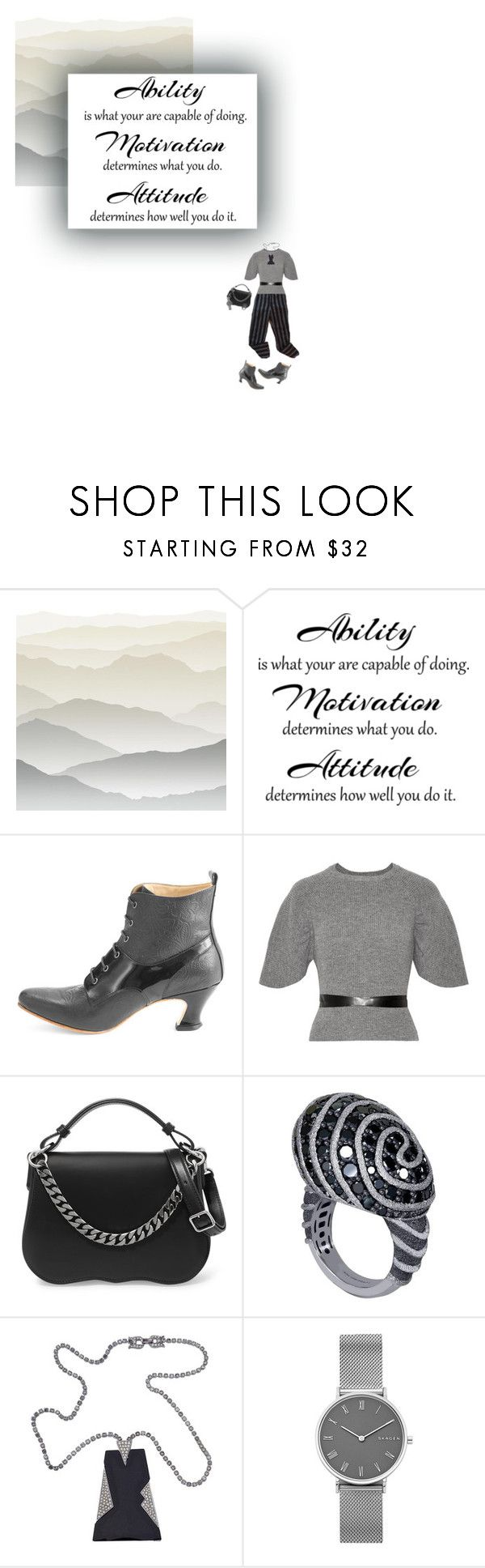"""""""Work Hard 🙵 Play Harder"""" by tiffyg2133 ❤ liked on Polyvore featuring York Wallcoverings, John Fluevog, RED Valentino, Calvin Klein 205W39NYC, Alex Soldier and Skagen"""
