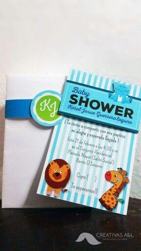 Tarjeta Personalizada Baby Shower Animales