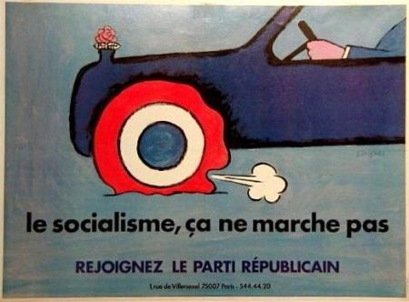 "Raymond Savignac, ""Socialism Does Not Work,"" France, 1981"