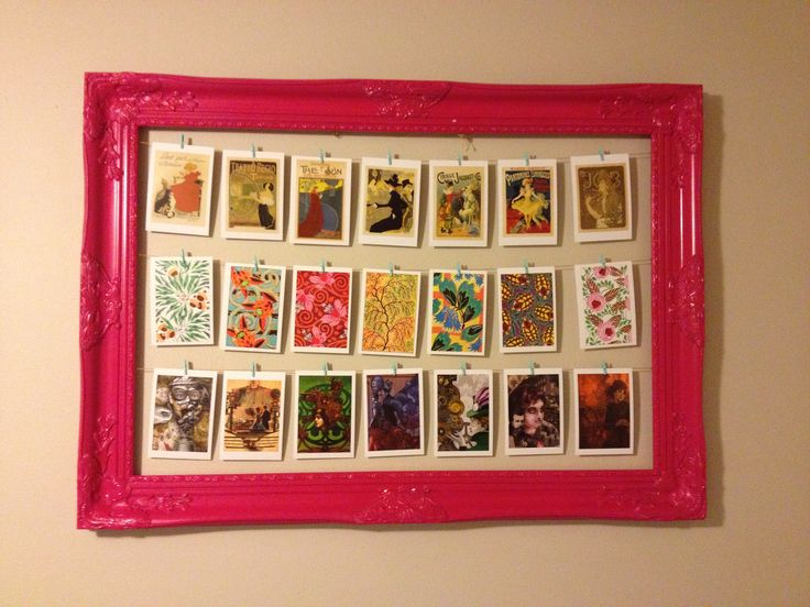 Picture frame postcard display
