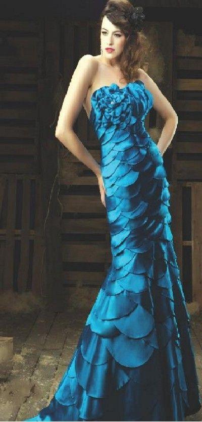 Beautiful Dress In Brilliant Peacock Blue