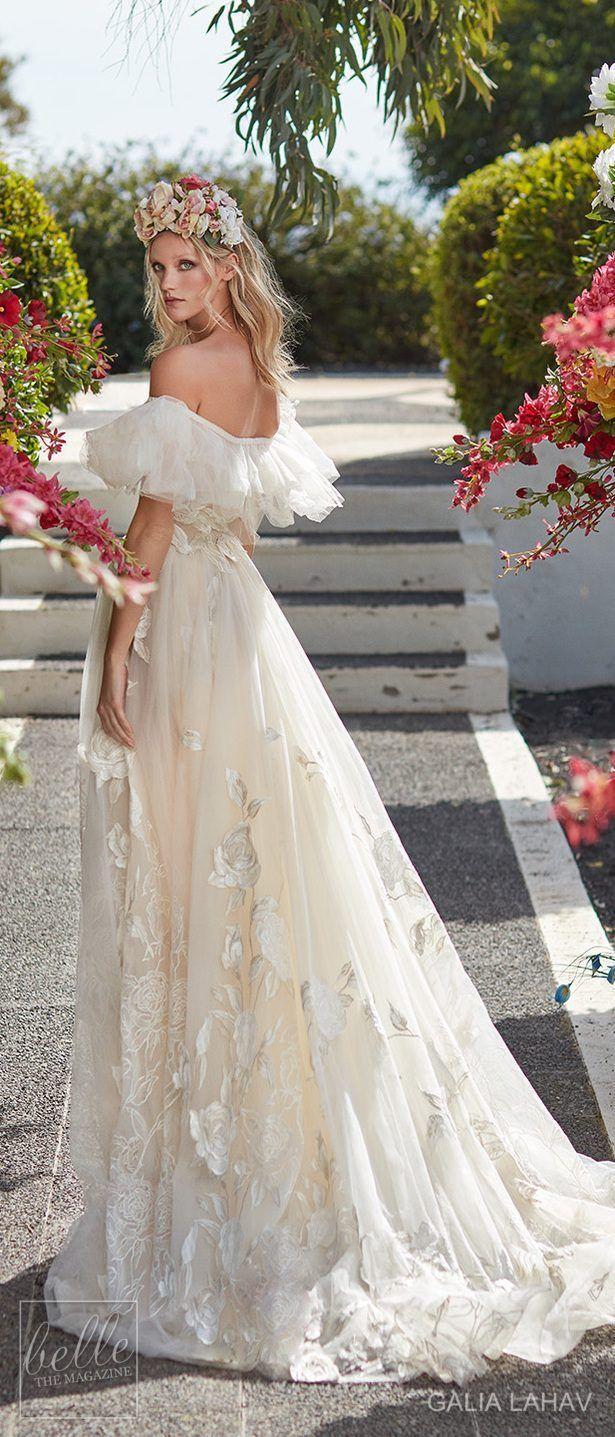Wedding dress by Galia Lahav Couture Bridal - Fall 2018 - Florence by Night - Casablanca #weddinggowns