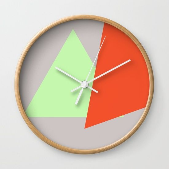 Shapes and Angles Wall Clock by Bravely Optimistic | Society6
