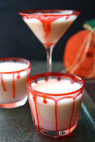 Halloween cocktail recipes: Vampire Punch made with lime sherbert and optional vodka