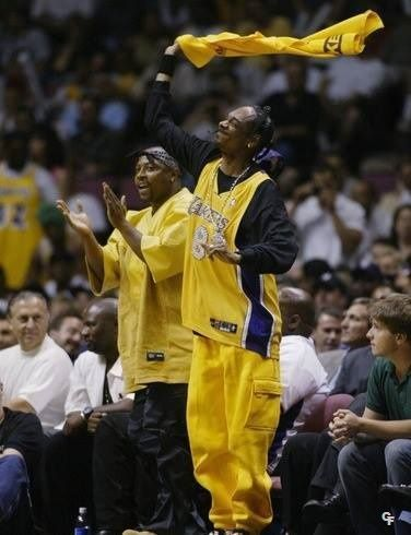 Nate Dogg & Snoop Dogg (at Game 4 of the NBA Finals with the Los Angeles Lakers