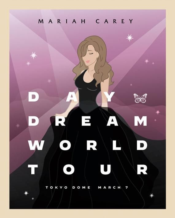 Mariah Carey 5 Tour Poster Collection 5 Illustrated Posters Etsy In 2021 Minimalist Poster Tour Posters Mariah Carey Daydream