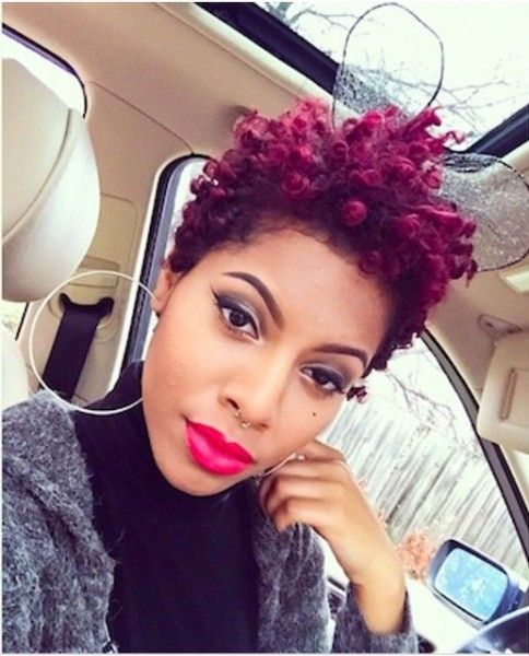 very short black hair styles beautiful burgundy tapered twa colors in 2019 tapered 3194 | 61a650c091a8cb3f6c61b99c71964615 tapered twa hairstyles natural kids hairstyles
