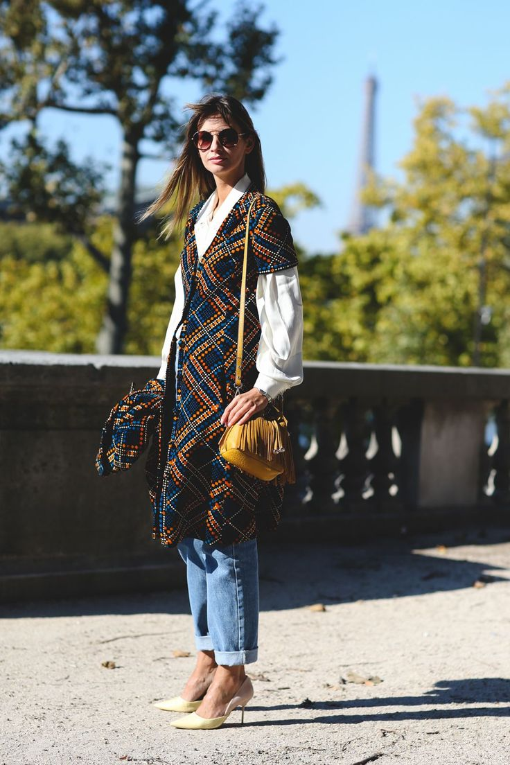 Every Must-See Street Style Look From Paris Fashion Week #refinery29  http://www.refinery29.com/2015/10/95202/paris-fashion-week-spring-2016-street-style-pictures#slide-35  Tweed gets a modern twist....