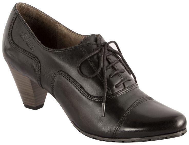 Pantofi cu toc s.Oliver din piele