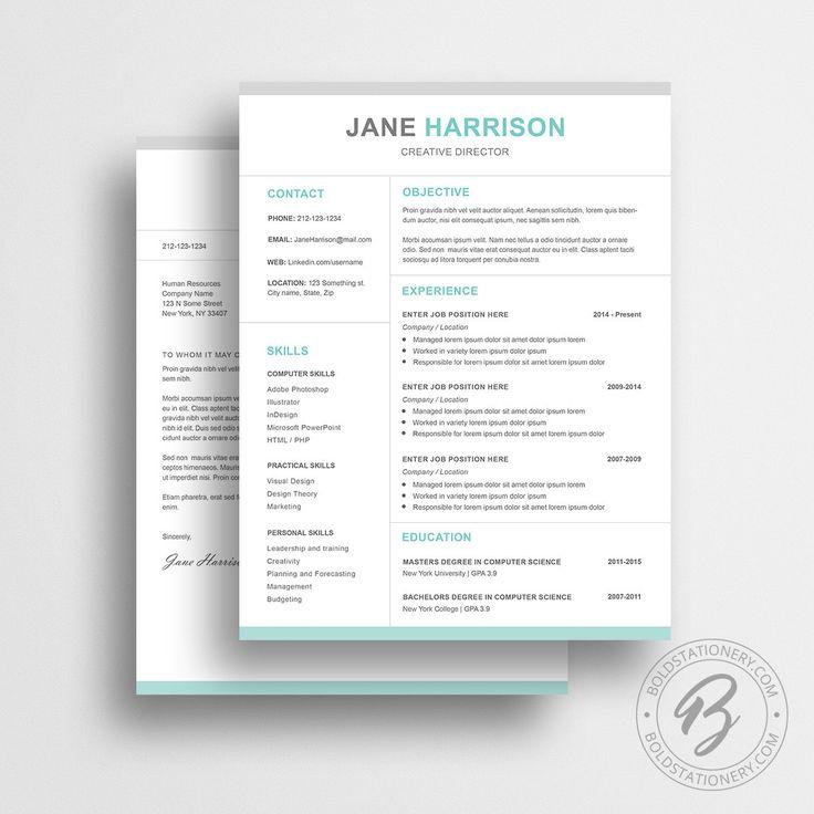 10 best Resume Templates / CV Templates images on Pinterest | Resume ...