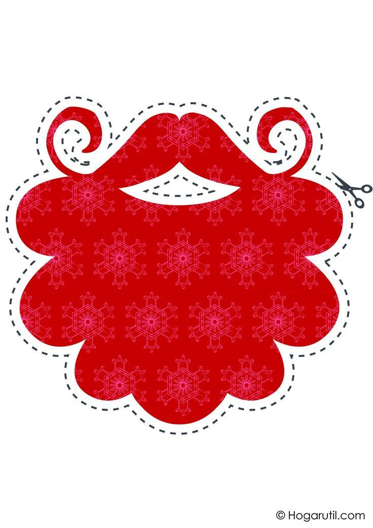 Kit descargable para hacer un photocall de Navidad - Barba roja
