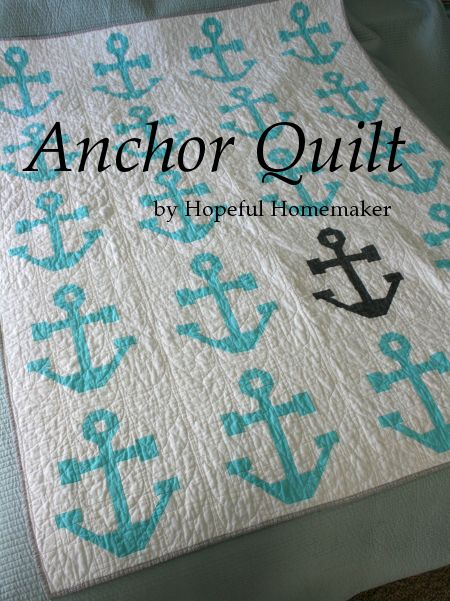 tutorial: Pieced Anchor quilt block with Cable style quilting