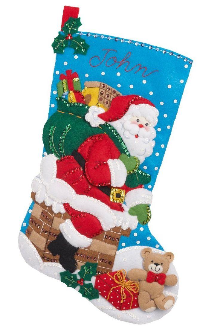 Amazon.com: Down the Chimney Bucilla Christmas Stocking Kit