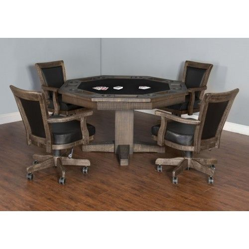 Convertible Poker U0026 Dining Table Tobacco Leaf By Sunny Designs