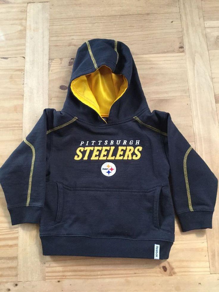 NFL Team Apparel Reebok Steeler Sweatshirt Kids 3T #Reebok #PittsburghSteelers