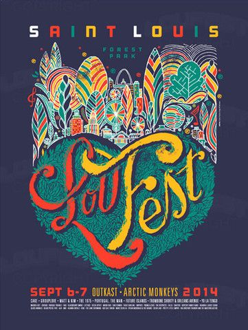 2014 Signed & Numbered Poster – LouFest by Carlos Zamora