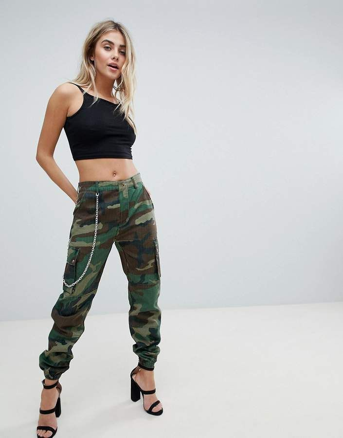 1e98e7fd Missguided Camo PANTS With Chain #missguided #camo #sponsored ...