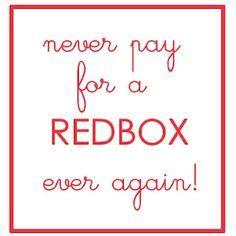 Free redbox??  Worth a try!!!