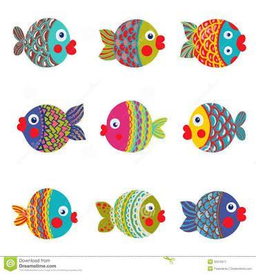 peixes desenhos coloridos - Pesquisa Google