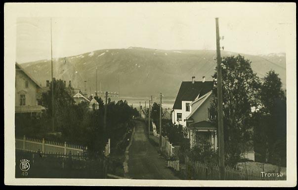 TROMSØ. Parti med villastrøk Utg Oppi, br. 1920