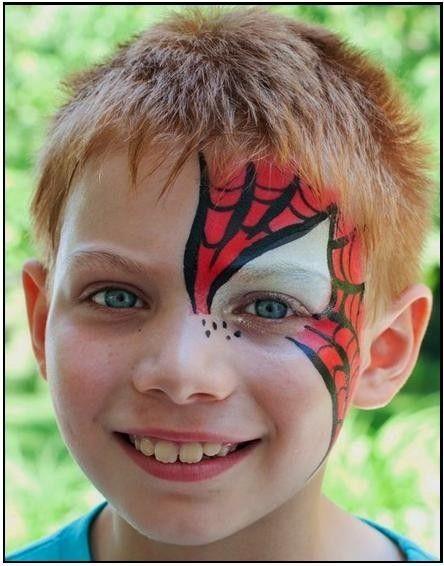 spiderman face painting face painting super heroes pinterest kinderschminken kinder. Black Bedroom Furniture Sets. Home Design Ideas