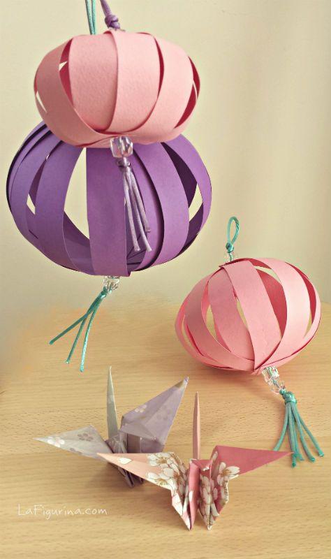 Le lanterne di carta, una decorazione perfetta per addobbare a festa i vostri ambienti! Ecco il link per realizzarle in poche mosse  http://www.lafigurina.com/2014/09/tutorial-come-realizzare-una-lanterna-di-carta/