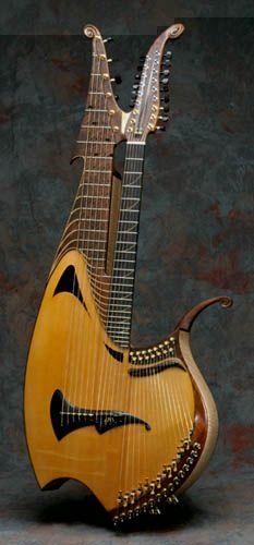 STRANGE GUITAR WEEK 39-strings Harp-Sympitar #rareandstrangeinstruments