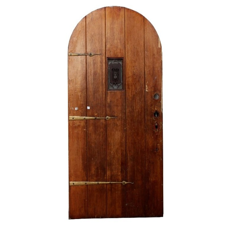 Arched Plank Door With Strap Hinges U0026 Speakeasy