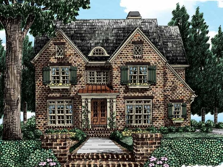 Best House Plans Images On Pinterest Corner Fireplaces Home - European homes and house plans