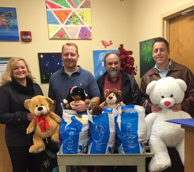 Belk, Inc. Knoxville retail stores collected teddy bears for East Tennessee Children's Hospital this year. The teddy bears will be distributed to patients at Children's Hospital during this holiday season. (pictured from left to right, Melissa Allen/Belk West Town, Bill Muenzer/Belk Maryville, Cameron Hess/Belk Turkey Creek and Michael Young/Belk East Tennessee/Knoxville Region)