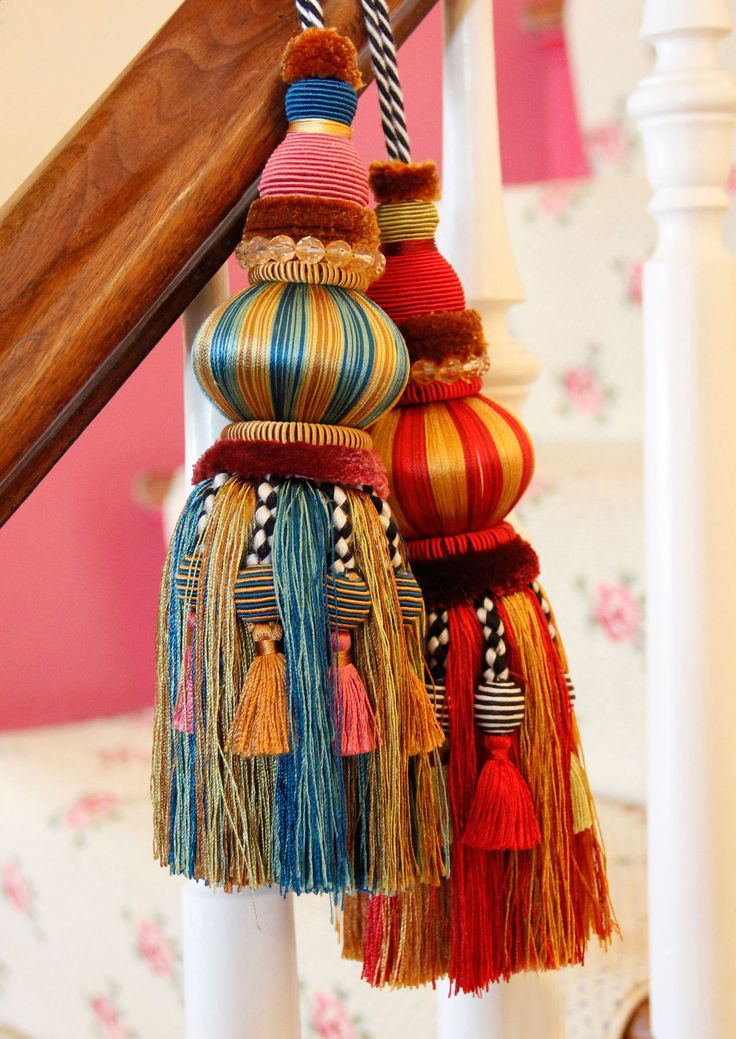 ♥♥ ...Window dressing ... ♥♥ Just add a Tassel! The ultimate home decor accessory from @MacKenzie-Childs