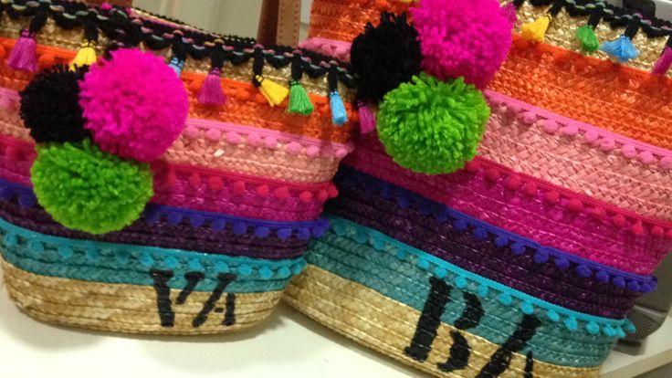 Bolsa customizada mãe e filha by @graffaria