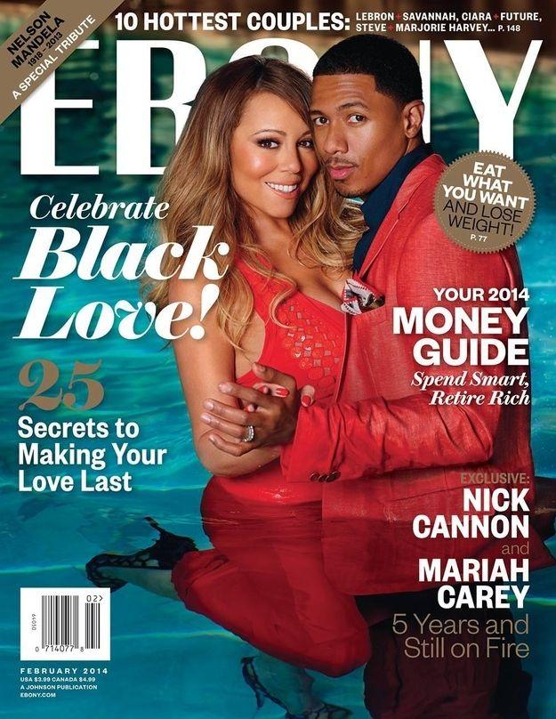 "Mariah Carey And Nick Cannon Cover ""EBONY"" Magazine  - www.more4design.pl – www.mymarilynmonroe.blog.pl – www.iwatmore.pl"